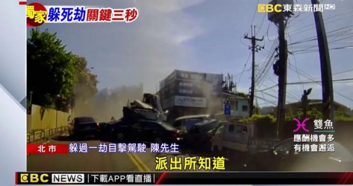 上班「生死瞬間」水泥車衝過來「鏟車堆疊」 - YouTube